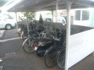 自転車置き場改造工事:工事前