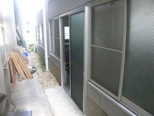 工場出入口新設工事:工事後