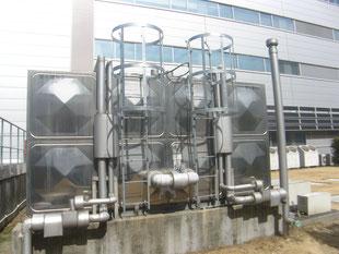 貯水槽タラップ防護柵:工事後