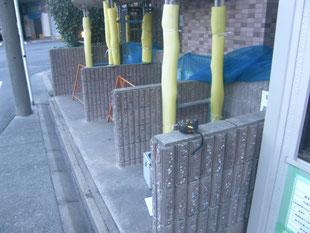 ゴミ庫鳥害防止工事:工事前