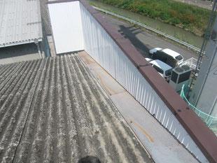 パラペット内壁漏水修理:工事後