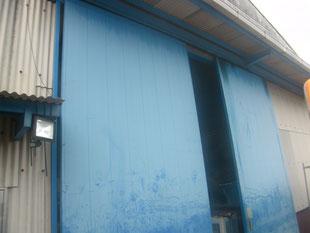 ハンガードア改修工事:工事前