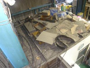 工場内収納棚新設工事:工事前