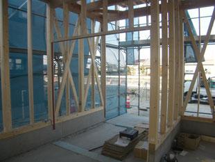 木造店舗サッシ下地平鋼:工事後