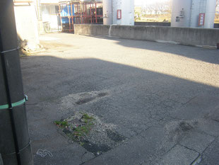 アスファルト舗装:工事前