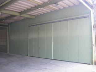 壁及び鋼製引戸新設工事:工事後