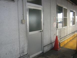 アルミ製ドア改修工事:工事後