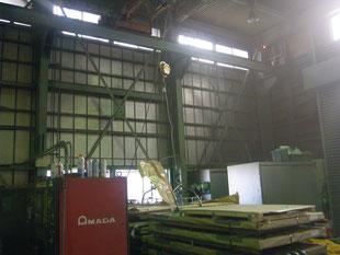 工場内中二階新築工事:工事前