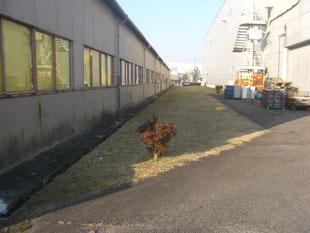 屋外機械基礎新設工事:工事前
