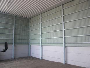 資材、製品置場壁改修:工事前