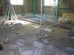 土間コンクリート新設:工事前