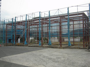 建物鉄骨塗装工事:工事前