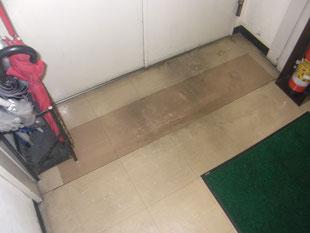Pタイル床改修工事:工事前