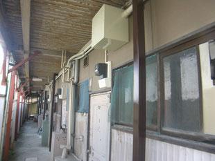 木造アパート補強柱:工事後