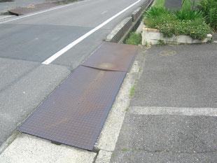 乗入れ鉄板改修工事:工事前