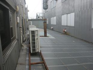 室外機据付用レール架台:工事前