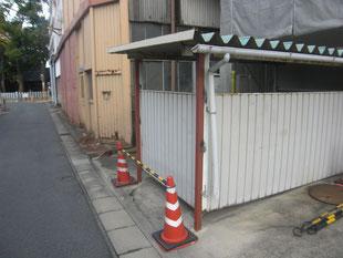 駐輪場柱補強工事:工事後