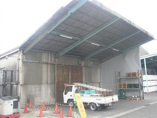 雨避け壁新設工事:工事前