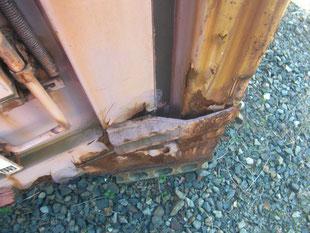 コンテナ溶接修理作業:工事前