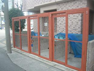 ゴミ庫鳥害防止工事:工事後
