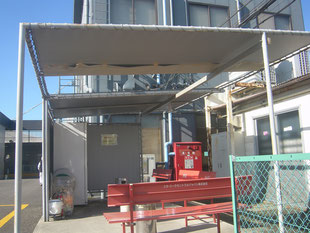 テント屋根改修工事:工事前