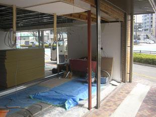 壁及びサッシ下地工事:工事後