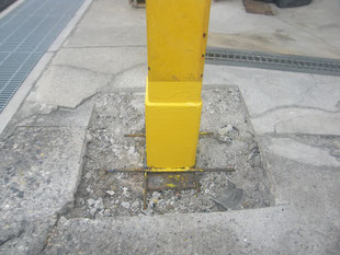 鉄骨柱腐食穴補強工事:工事後