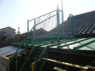 物干し場解体工事:工事前