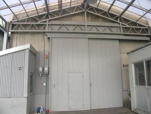 工場外壁塗装工事:工事前