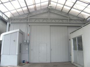 工場外壁塗装工事:工事後