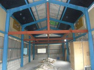 鉄骨階段及び手摺工事:工事前