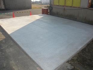 屋外機械基礎新設工事:工事後