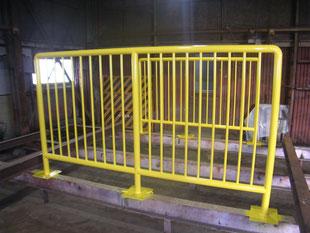 パイル転倒防止柵:工事後
