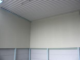 資材、製品置場壁改修:工事後