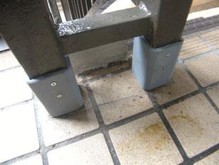 腐食手摺支柱補強工事:工事後