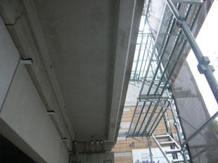 フロントサッシ鉄骨下地:工事前