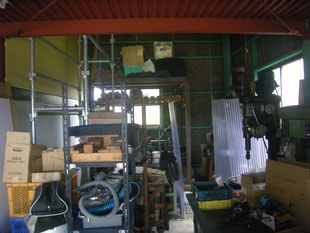 中二階拡張鉄骨工事②:工事前