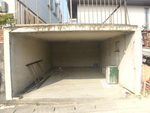 オーバースライダー鉄骨下地:工事前