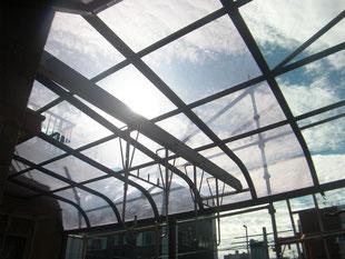 テラス屋根取替工事:工事前