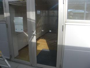 アルミ製框ドア改修工事:工事後