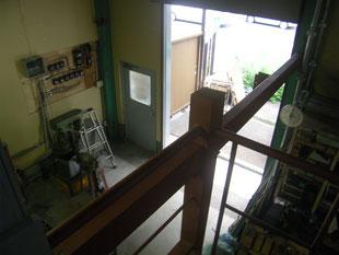 中二階拡張鉄骨工事:工事前