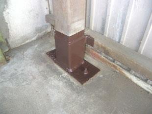 柱脚補修工事:工事後