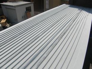 コンテナ屋根防錆塗装:工事後