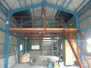 鉄骨階段及び手摺工事:工事後
