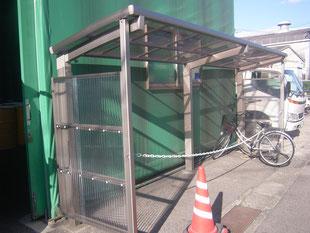 サイクルポート新築工事:工事後
