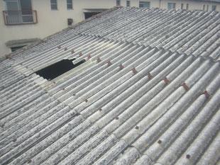 破損採光屋根取替工事:工事前