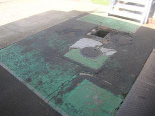 ピット及び舗装改修工事:工事前