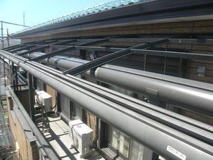 テラス屋根張替え工事:工事前