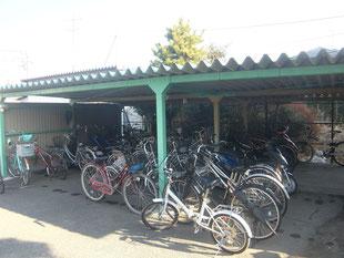 自転車置き場移設工事:工事前
