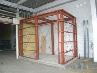 機械室鉄骨工事:工事後